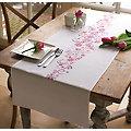 """Stickläufer """"Blumenornament"""""""