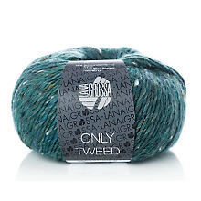 Lana Grossa Wolle Only Tweed, petrol color