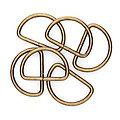 buttinette Halbringe/D-Ringe, altmessing, für 40 mm breite Bänder, 6 Stück