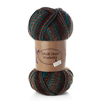 Woll Butt Laine Violetta, rouge brique/multicolore
