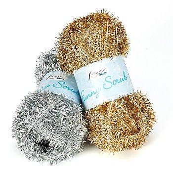 Rellana Wolle Funny Scrub, gold + silber - Schwammgarn