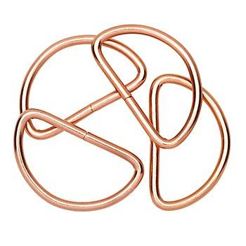 Prym Halbringe, roségold, Größe: 30 mm, 4 Stück