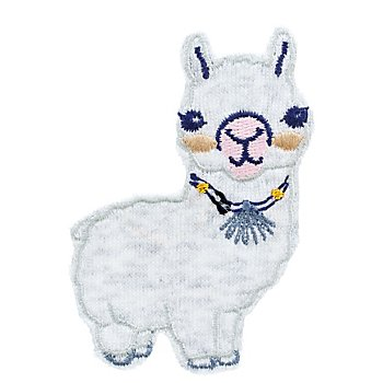 buttinette Applikation 'Lama', Größe: 6,9 x 5 cm, Inhalt: 2 Stück