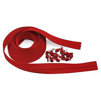 buttinette Endlosreißverschluss im Set, Länge: 4 m, rot