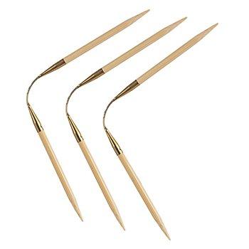 addi Strumpfstricknadeln 'CraSyTrio', Bambus, 24 cm