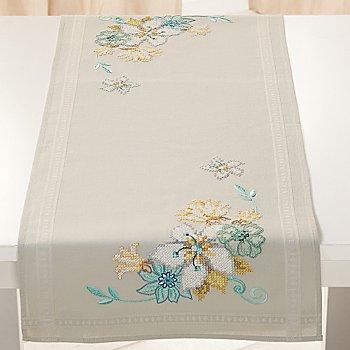 Stickläufer 'Blaue Blüten'