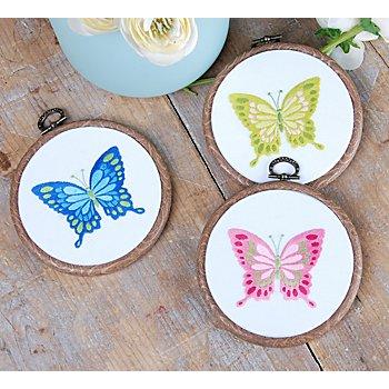 Miniatur-Stickbilder 'Schmetterlinge', 3er-Set