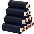 buttinette Universal-Nähgarn, Stärke: 100, 10er-Pack, nachtblau