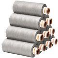 buttinette Lot de 10 bobines de fil à coudre universel, pierre, grosseur : 100