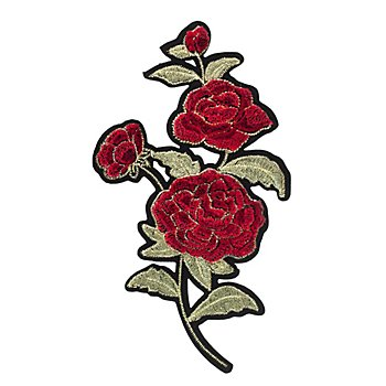 buttinette Motif à coudre et à repasser 'ramage de roses', 17,7 x 10 cm