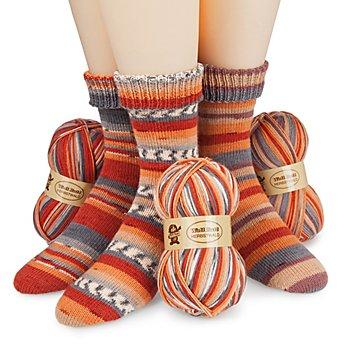 Set éco Woll Butt laine à chaussettes 'Herbstwald', 300