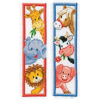 Marque-pages à broder 'bébés animaux'