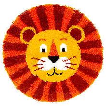 buttinette Tapis au point noué 'lion', 55 cm Ø