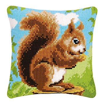Kreuzstichkissen 'Eichhörnchen'