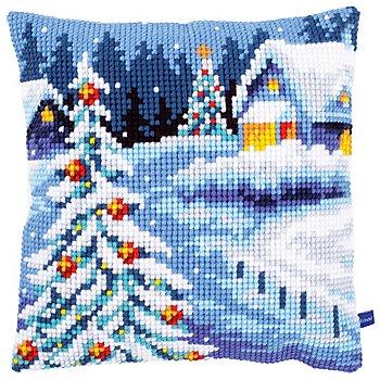 Kreuzstichkissen 'Winterweihnacht'
