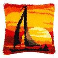 """Knüpfkissen """"Sonnenuntergang"""""""