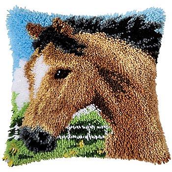 Knüpfkissen 'Pferd im Galopp'