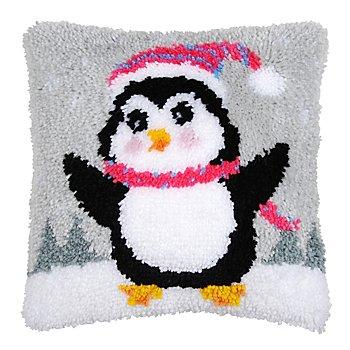 Knüpfkissen 'Kleiner Pinguin'