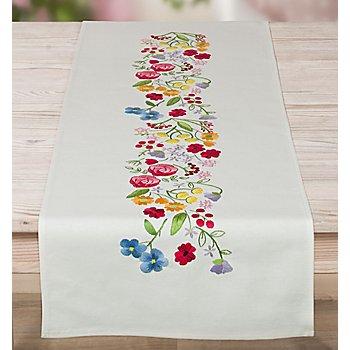 Stickläufer 'Sommerblumen'