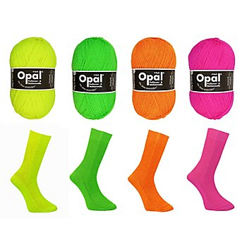 Opal Wolle Uni 'Neon', 4-fädig
