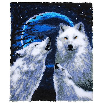 buttinette Tapis au point noué 'loups', 66 x 83 cm