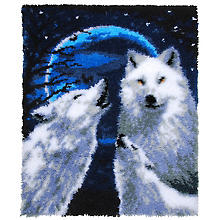 buttinette Knüpfteppich 'Wölfe', 66 x 83 cm
