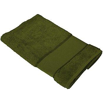 buttinette Serviette de toilette à broder, vert olive