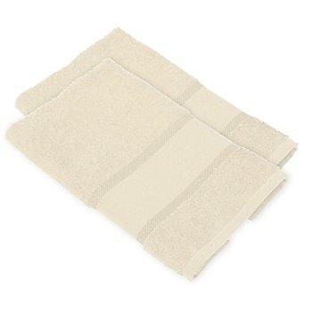 buttinette Serviettes invité à broder en tissu éponge, nature, 2 pièces