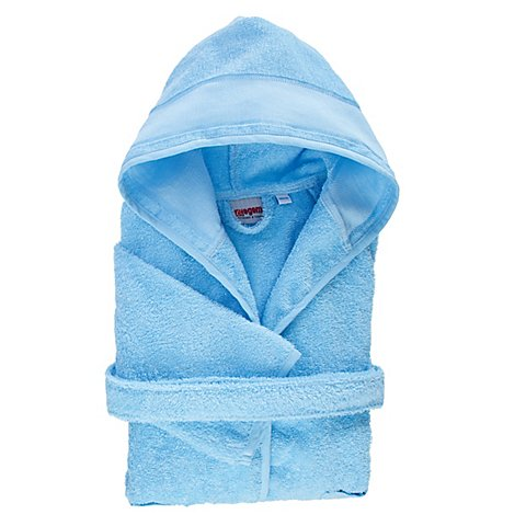 Image of buttinette Kinder-Bademantel, Grösse 134/140, blau