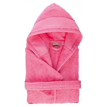 buttinette Kinder-Bademantel, Grösse 134/140, rosa