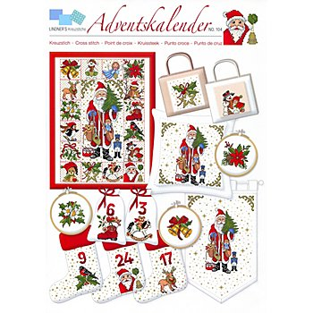 Stickvorlage 'Adventskalender'
