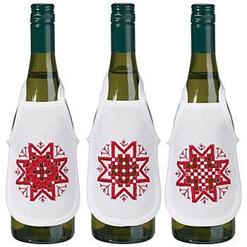 Set de 3 tabliers de bouteille Hardanger