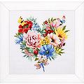 """Stickbild """"Blütenherz"""", 25 x 25 cm"""