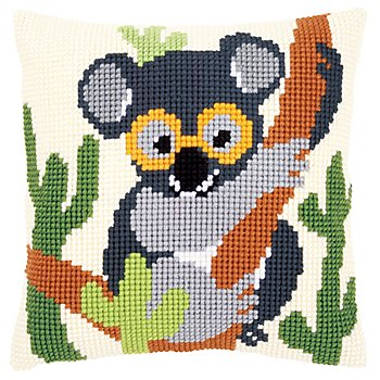 Kreuzstichkissen 'Koala'