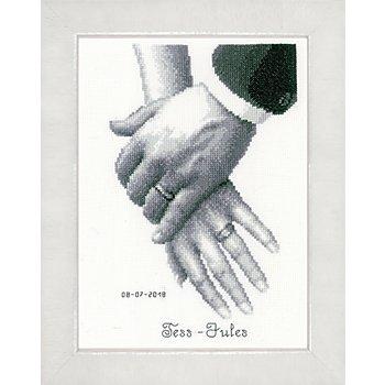 Tableau à broder 'vie commune', 18 x 25 cm