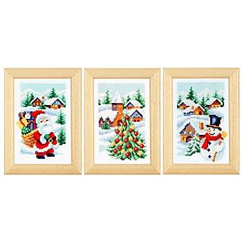 Stickbilder 'Weihnachten', 8 x 12 cm, 3er-Set
