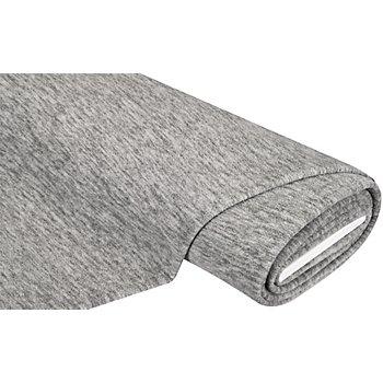 Tissu polaire, gris clair chiné
