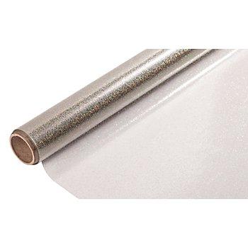 Klarfolie Glitter, silber