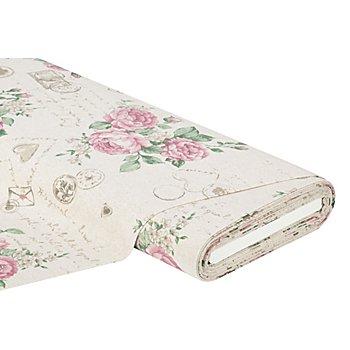 Tissu de décoration 'Viktoria', écru multicolore