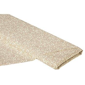 Beschichteter Dekostoff 'Ranken', beige-creme