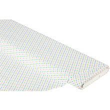 Baumwollstoff Tupfen 'Mona', weiß-color, 4 mm Ø
