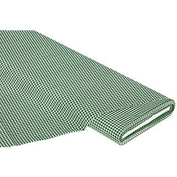 Baumwollstoff Vichykaro 'Mona', dunkelgrün/weiß, 3 x 3 mm