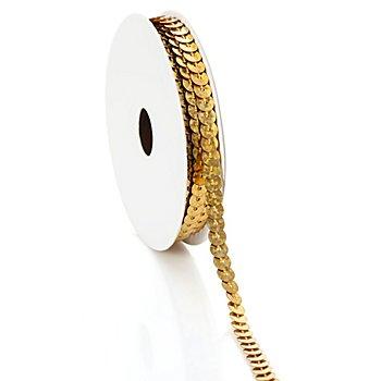 Paillettenband 'Hologramm', gold, Breite: 6 mm, Länge: 3 m