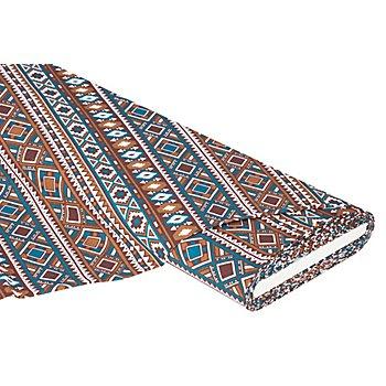 Baumwollstoff 'Indianer', braun-color