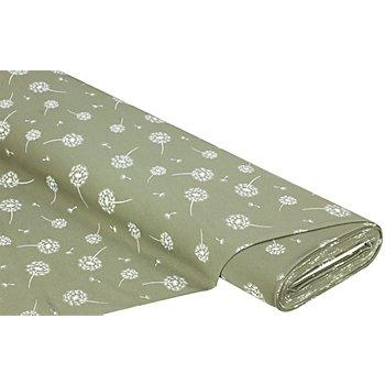 Tissu jersey en coton 'aigrette de pissenlit' avec de l'élasthanne, vert