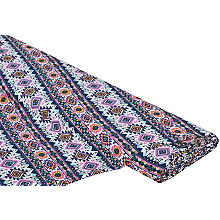 Tissu viscose 'style ethnique', rose vif multicolore