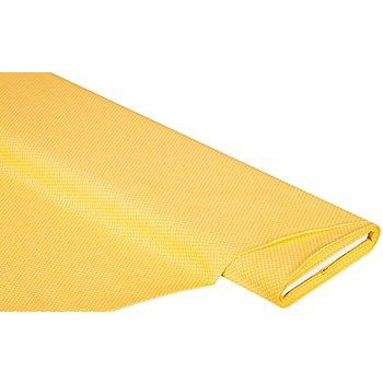 Baumwollstoff Tüpfchen 'Mona', 2 mm Ø, gelb/weiß
