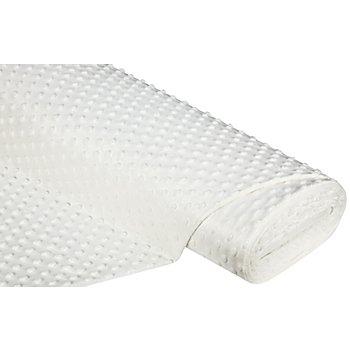 Tissu polaire Minky, blanc délavé