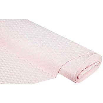 Tissu polaire à noppes 'Minky', rose