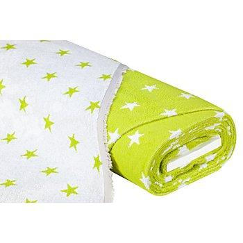 Jacquard-Walkfrottier 'Sterne', apfelgrün/weiß